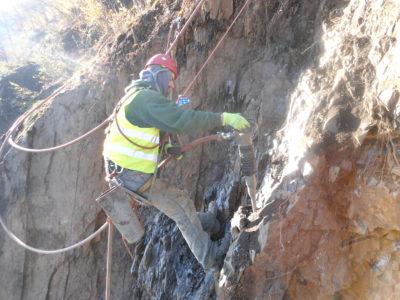 Těžba pomocí zbíjecí techniky