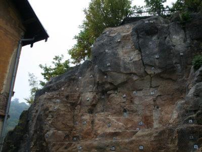 Sanace skalního masivu ocelovými sítěmi