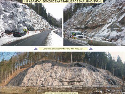 3 Adamov-stabilizace-skalniho-svahu ocelovými sítěmi a georohoží