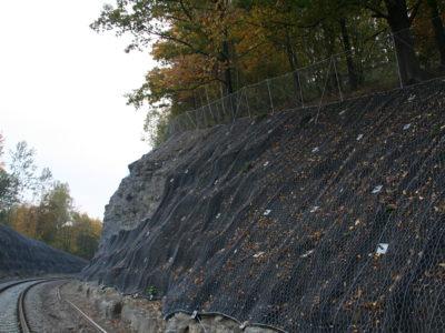 Montáž ocelových sítí a georohoží 02